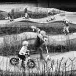 De fietscrossbaan