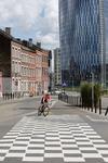 De fietser op het dambord